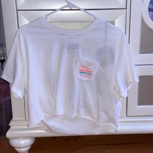 90210 cropped t shirt (tags still on)